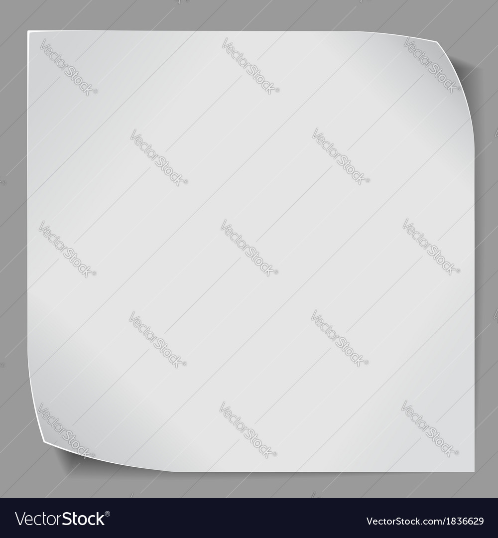 Paper sticker over grey background vector | Price: 1 Credit (USD $1)