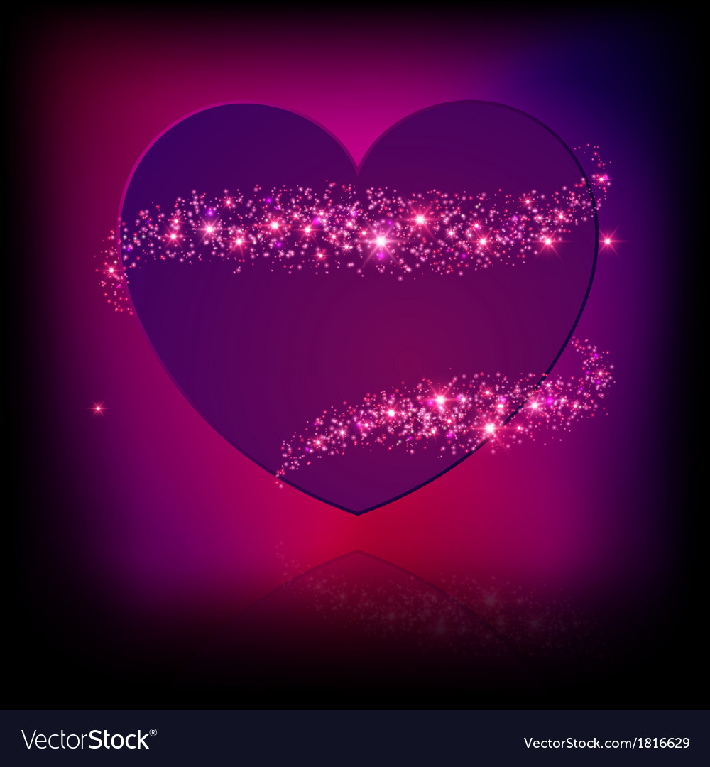 Sparkle bright pink heart vector   Price: 1 Credit (USD $1)