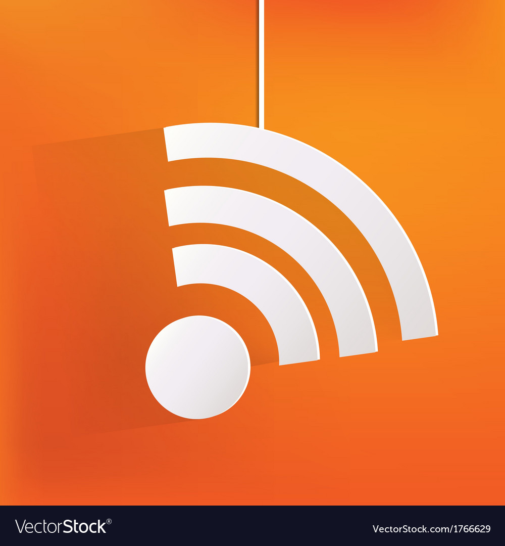 Wireless web icon vector | Price: 1 Credit (USD $1)