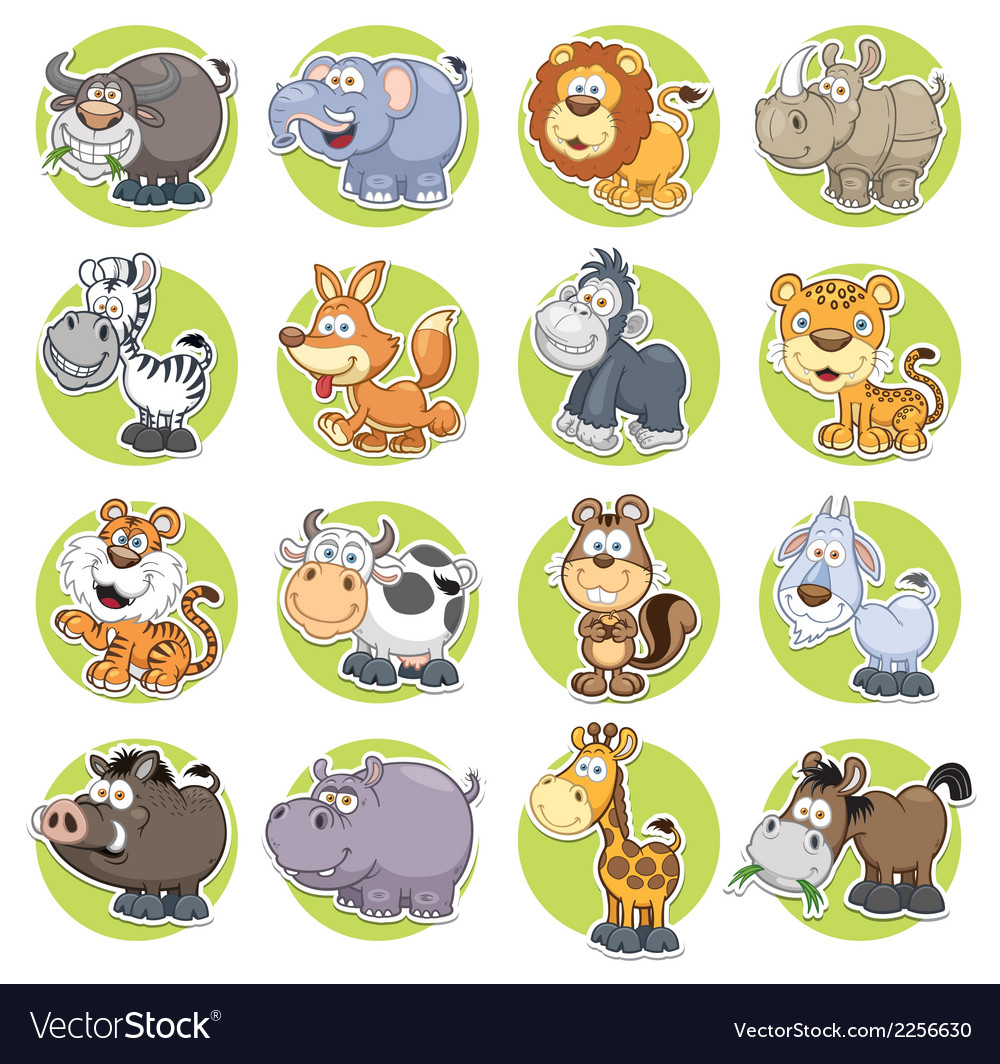 Animals set vector | Price: 3 Credit (USD $3)