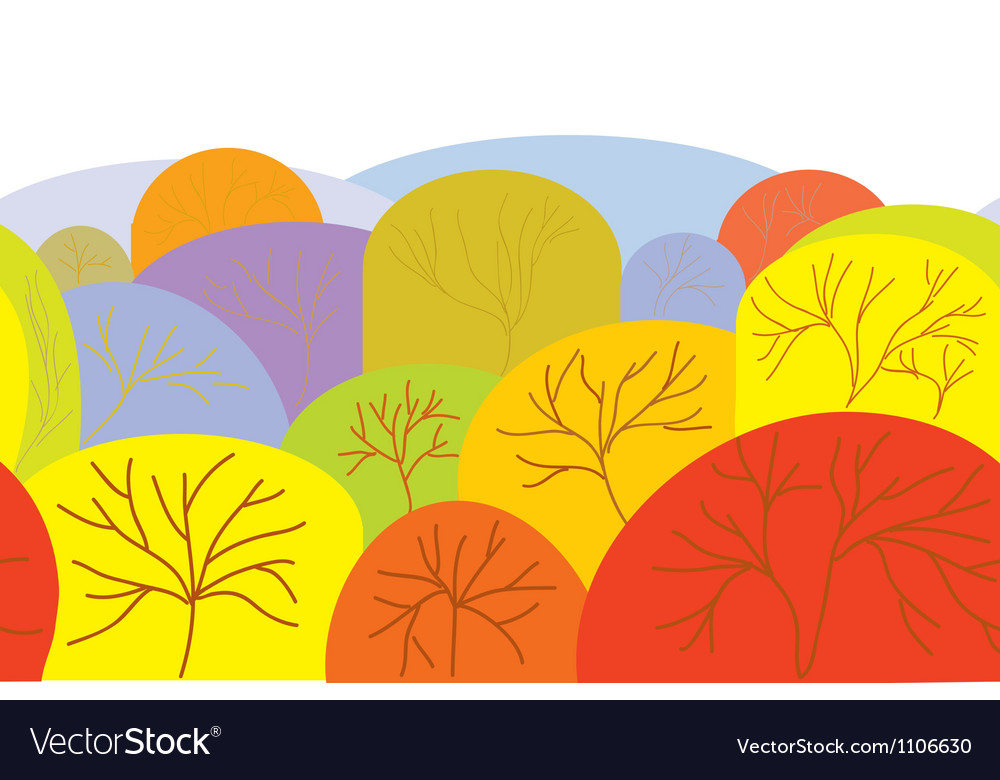 Autumn seamles banner with trees vector | Price: 1 Credit (USD $1)