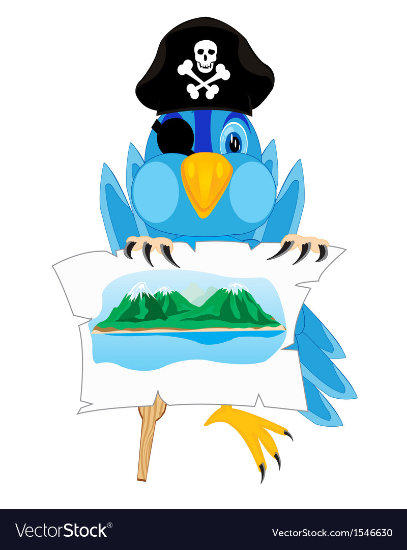 Bird pirate vector | Price: 1 Credit (USD $1)