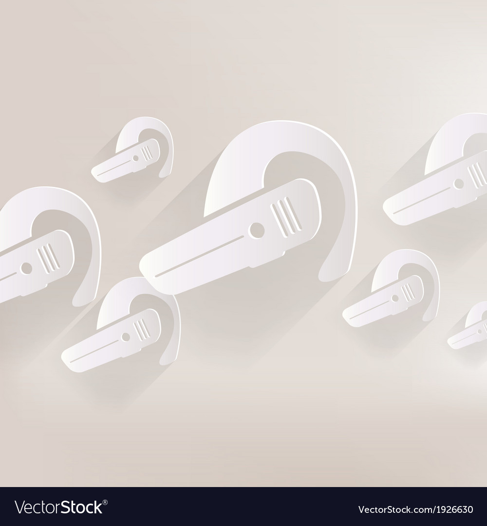 Bluetooth headset icon wireless connection vector | Price: 1 Credit (USD $1)
