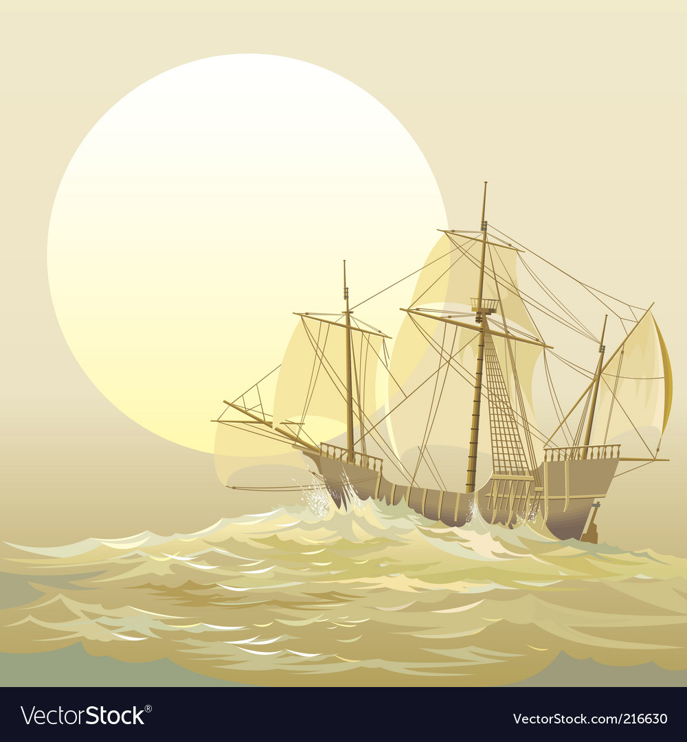 Caravel santamaria vector | Price: 5 Credit (USD $5)