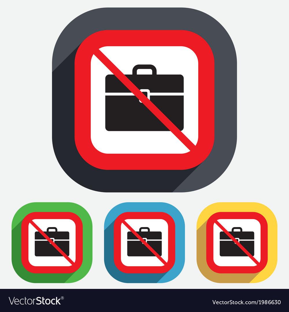 Case sign icon no briefcase button vector | Price: 1 Credit (USD $1)