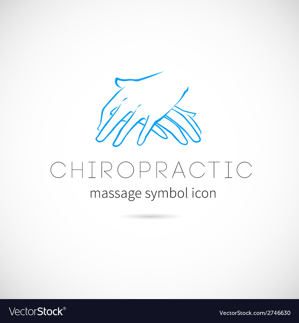 Chiropractic massage concept icon symbol or label vector | Price: 1 Credit (USD $1)