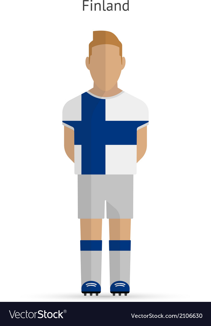 Finland football player soccer uniform vector | Price: 1 Credit (USD $1)