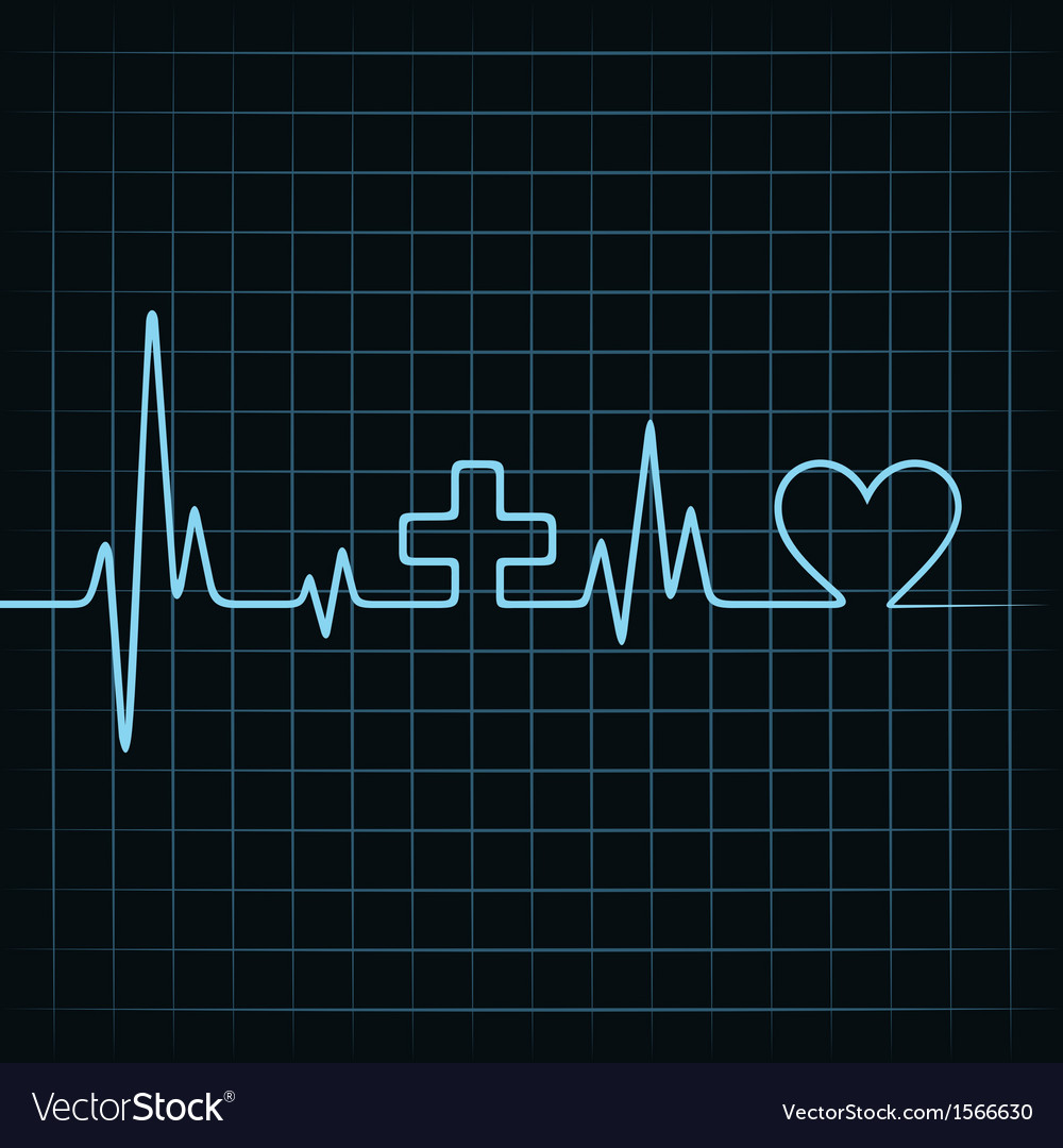 Heart beat make medical and heart symbol vector | Price: 1 Credit (USD $1)