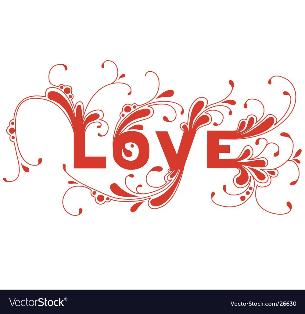 Love word vector | Price: 1 Credit (USD $1)