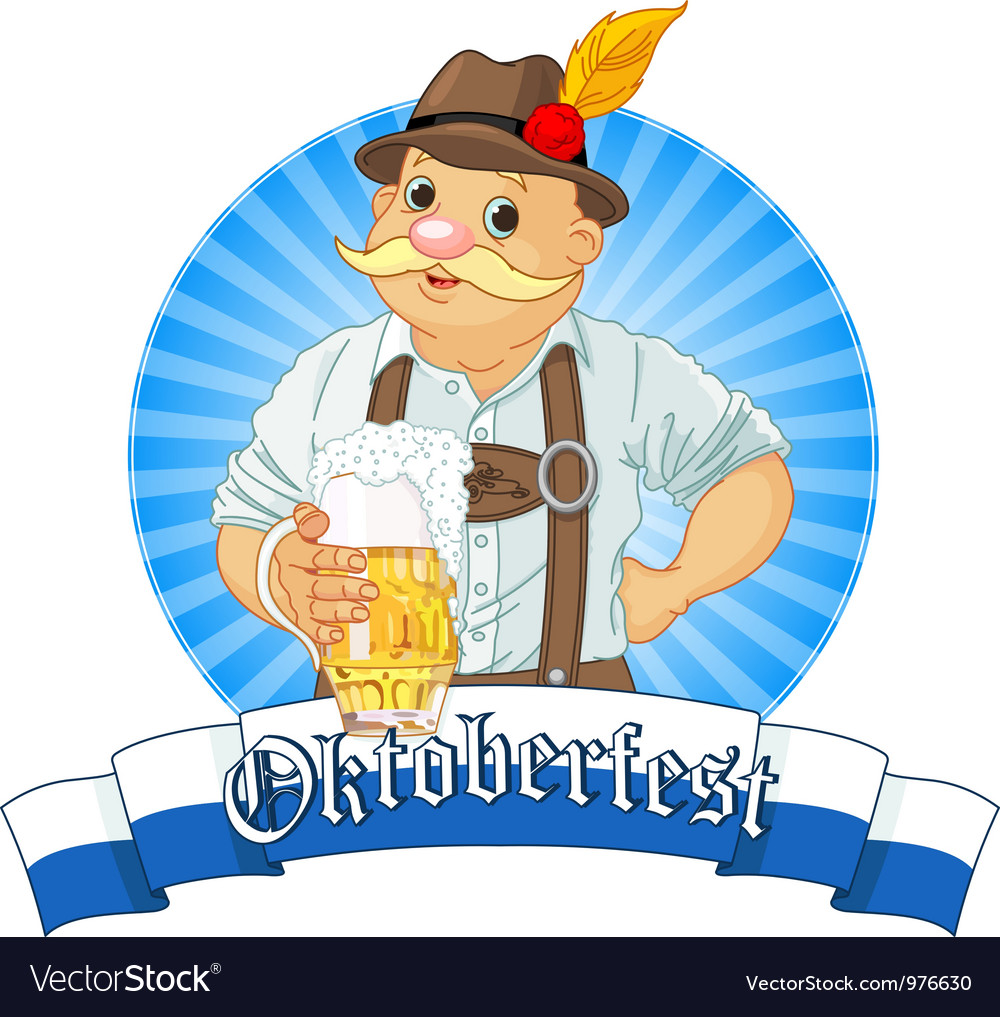Oktoberfest bavarian oktoberfest bavarian label w vector | Price: 1 Credit (USD $1)