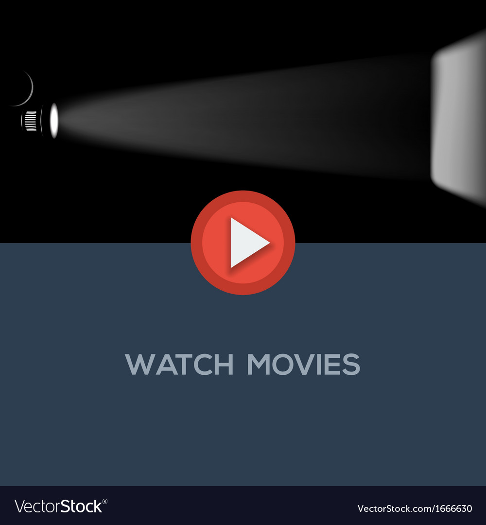 Play movie button flat design vector | Price: 1 Credit (USD $1)