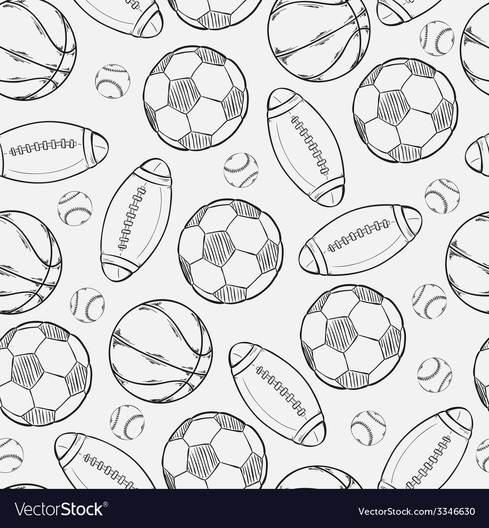 Sketch of different balls vector | Price: 1 Credit (USD $1)