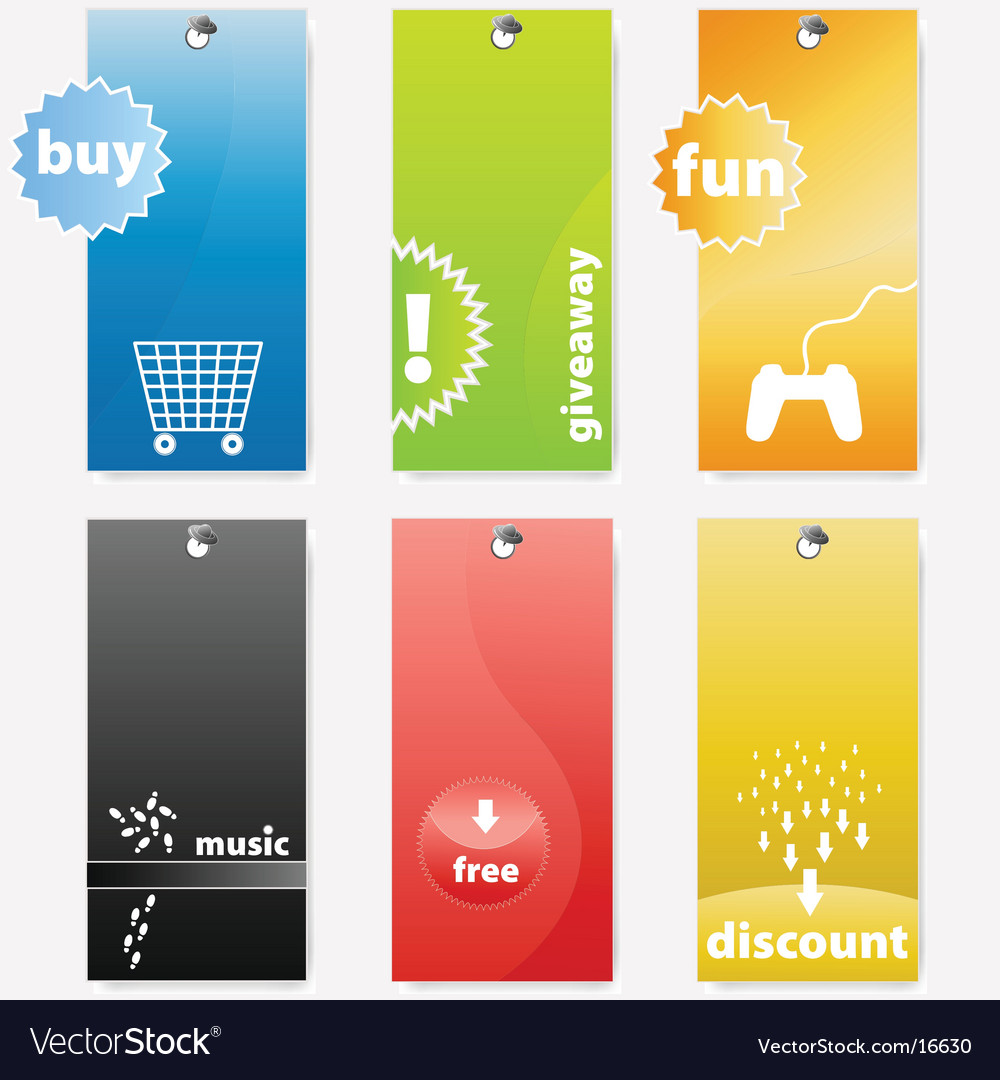 Tags design vector | Price: 1 Credit (USD $1)