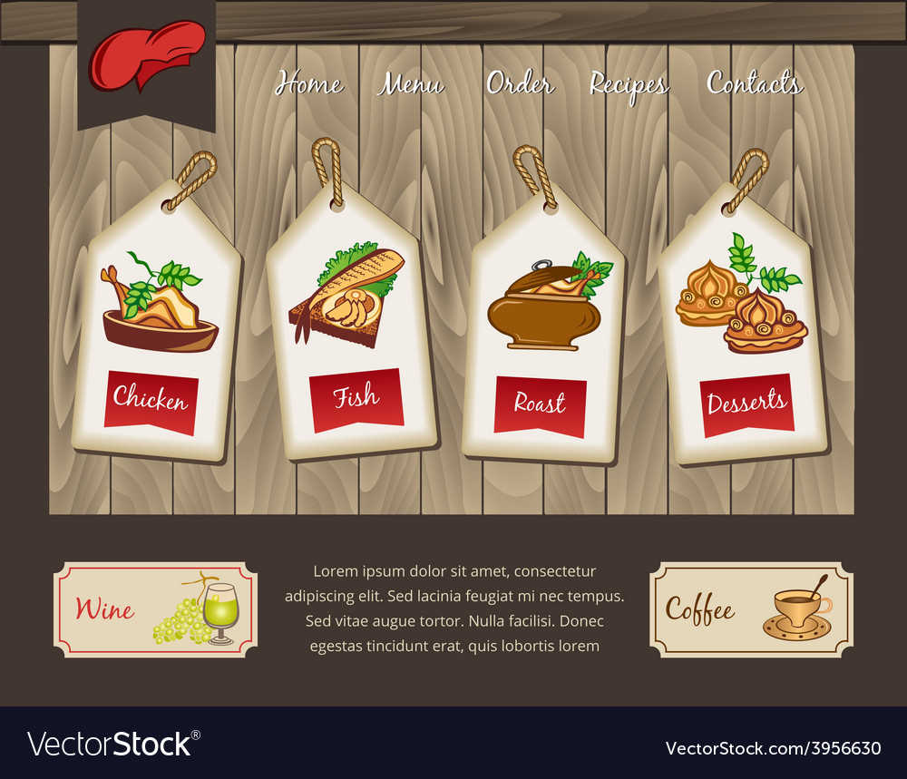 Template for food menu vector | Price: 3 Credit (USD $3)