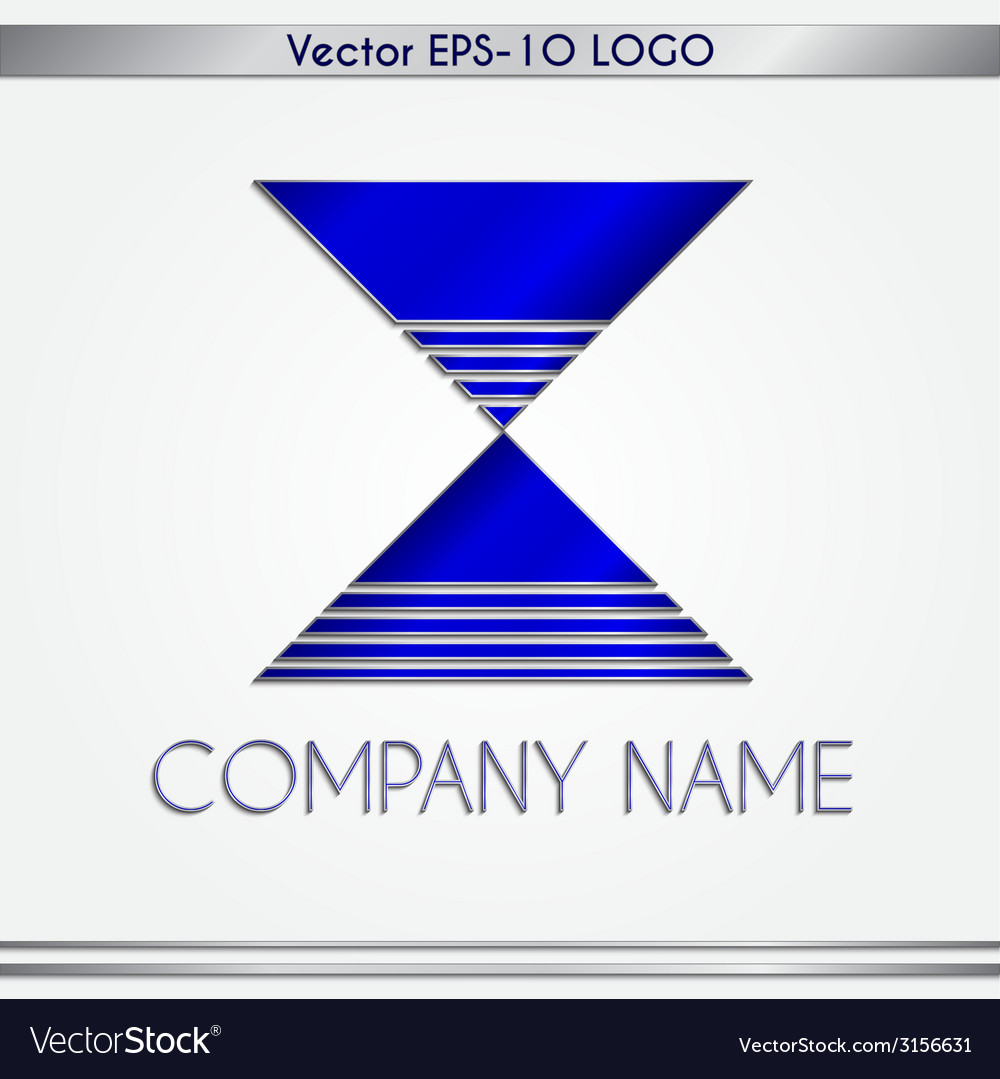 Abstract blue and silver company name logo vector | Price: 1 Credit (USD $1)