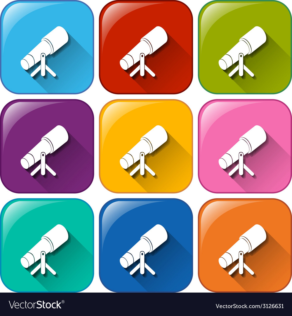 Buttons with telescopes vector   Price: 1 Credit (USD $1)