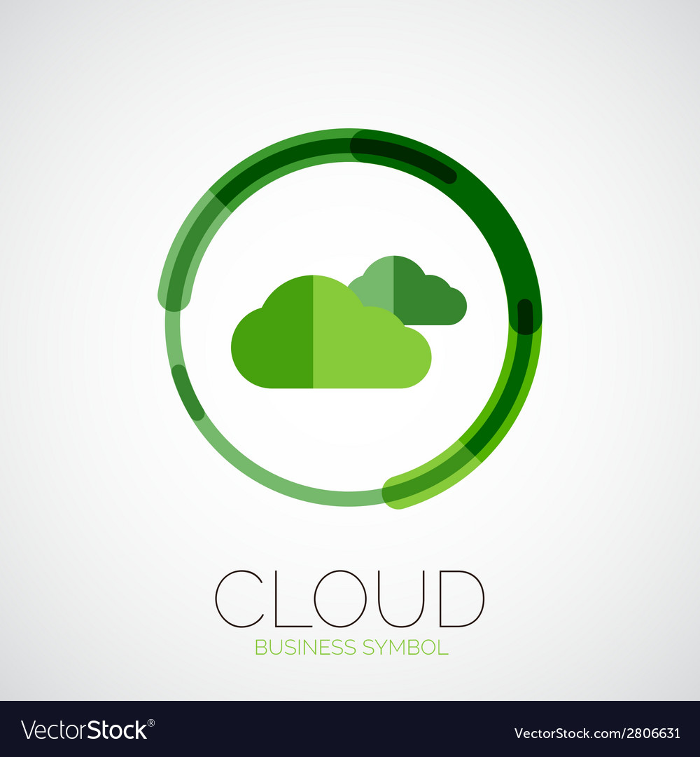 Cloud storage company logo minimal design vector | Price: 1 Credit (USD $1)
