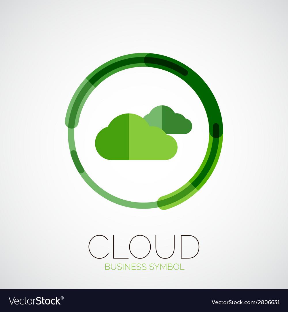 Cloud storage company logo minimal design vector   Price: 1 Credit (USD $1)