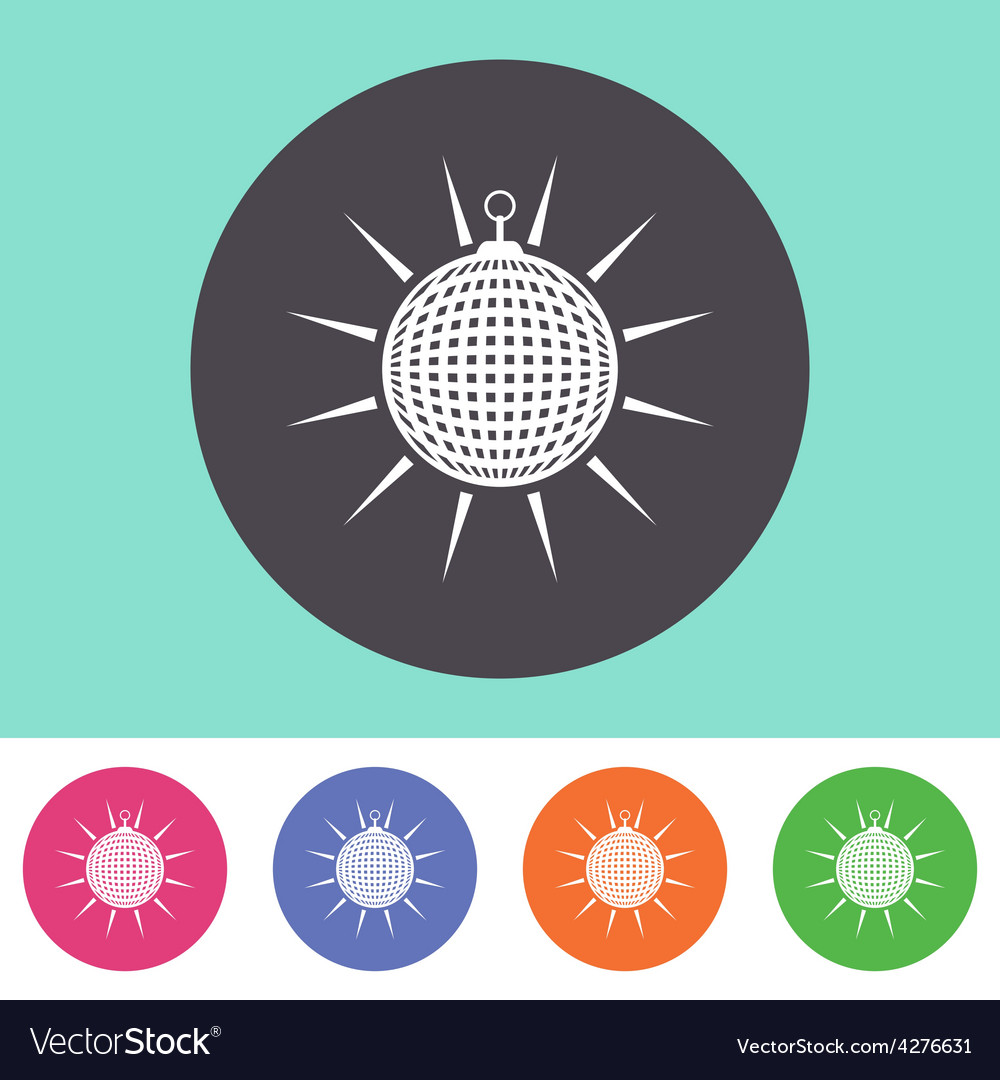 Disco ball icon vector | Price: 1 Credit (USD $1)