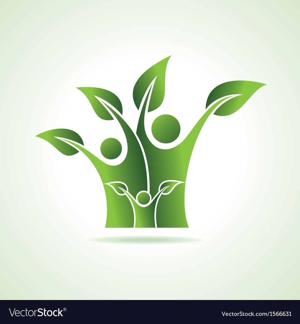 Eco family icon vector | Price: 1 Credit (USD $1)