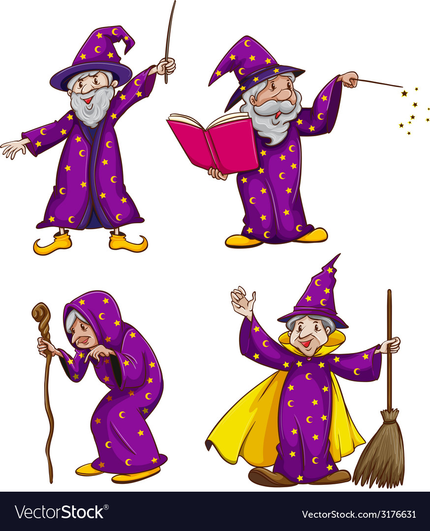Four witches vector | Price: 1 Credit (USD $1)