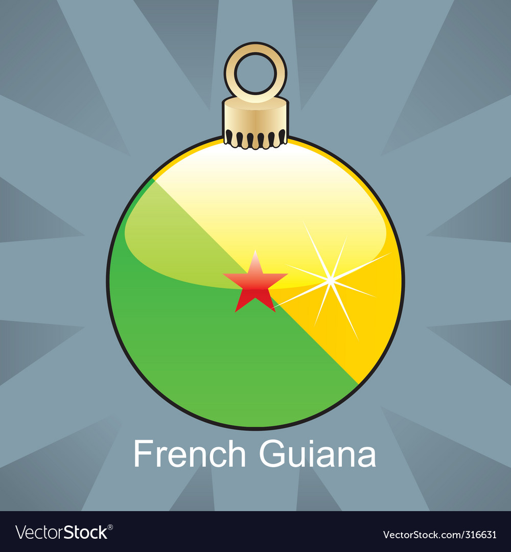 French guiana flag on bulb vector | Price: 1 Credit (USD $1)