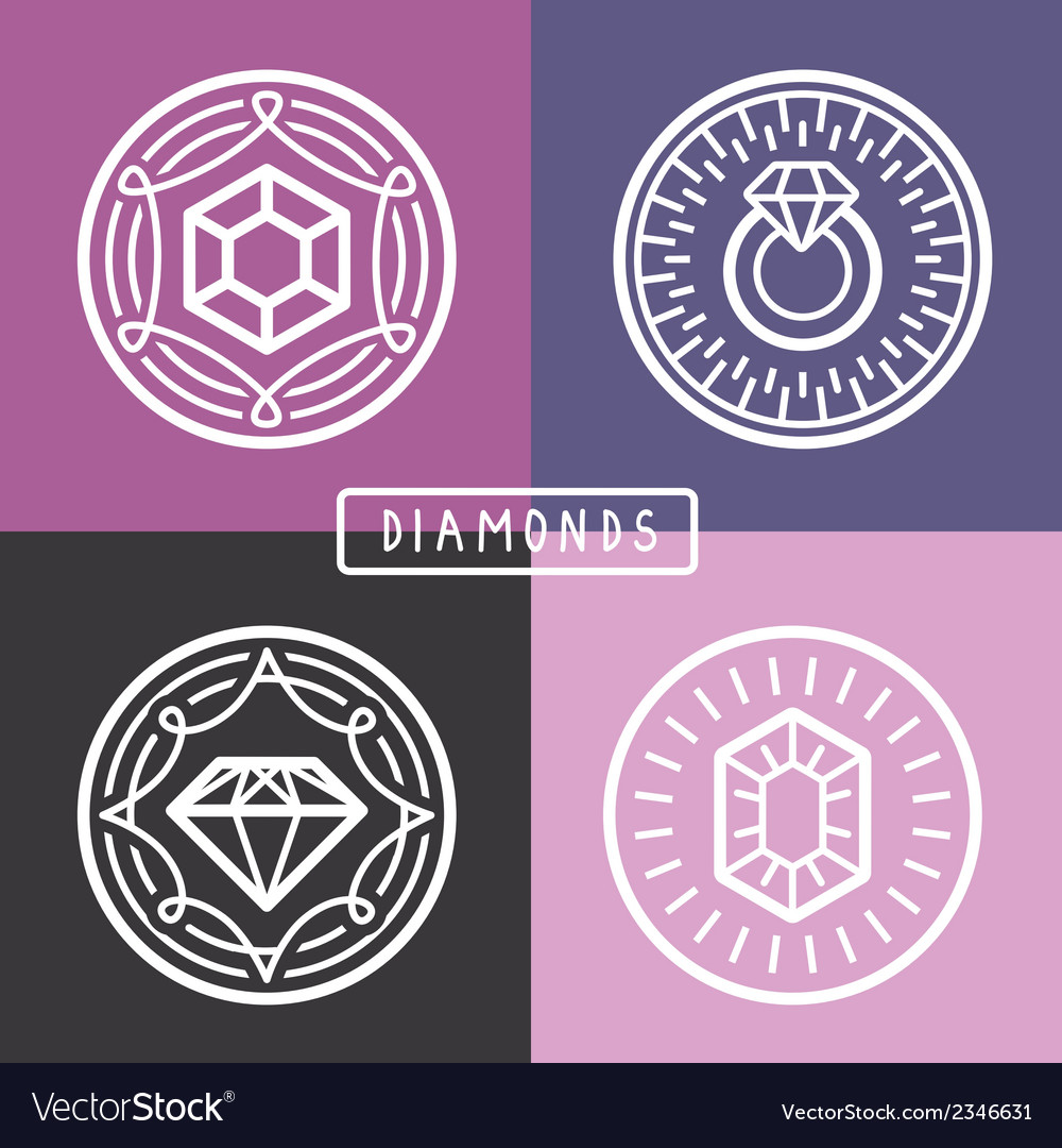 Jewelry signs and emblems vector | Price: 1 Credit (USD $1)