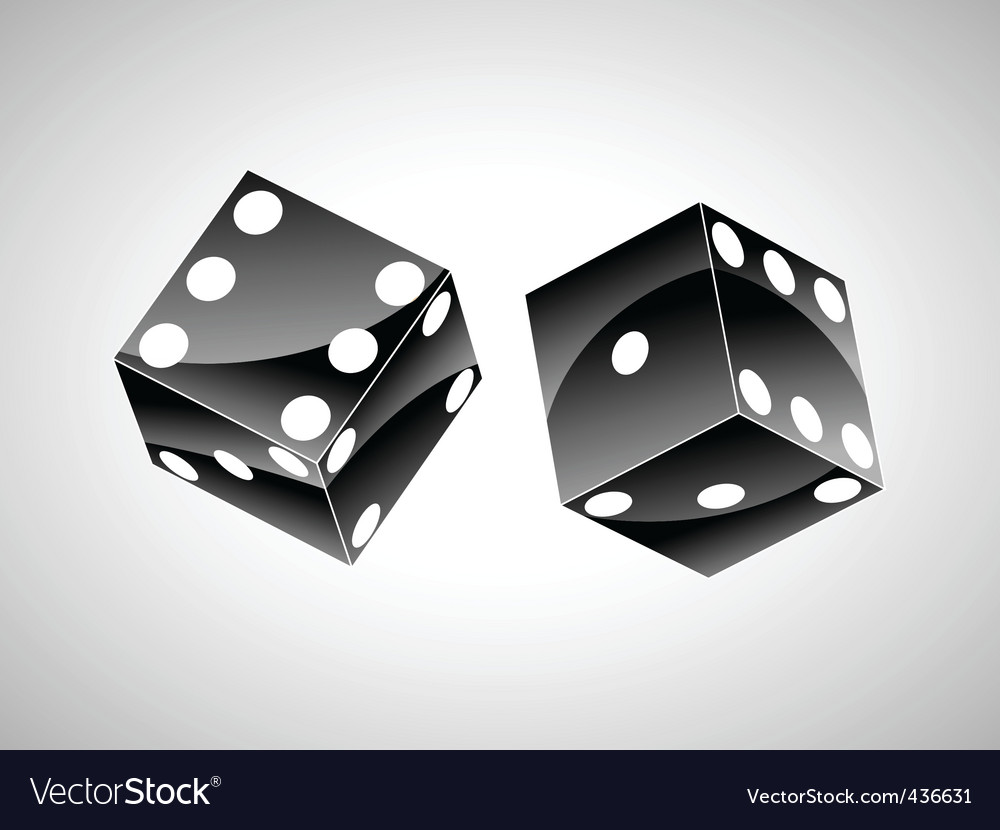 Orange dice vector | Price: 1 Credit (USD $1)