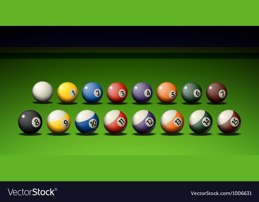 Pool game vector | Price: 1 Credit (USD $1)