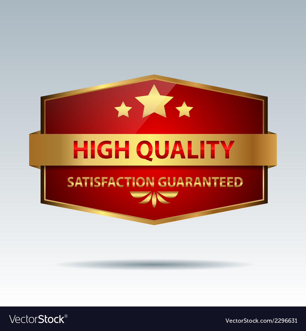 Quality badge vector | Price: 1 Credit (USD $1)