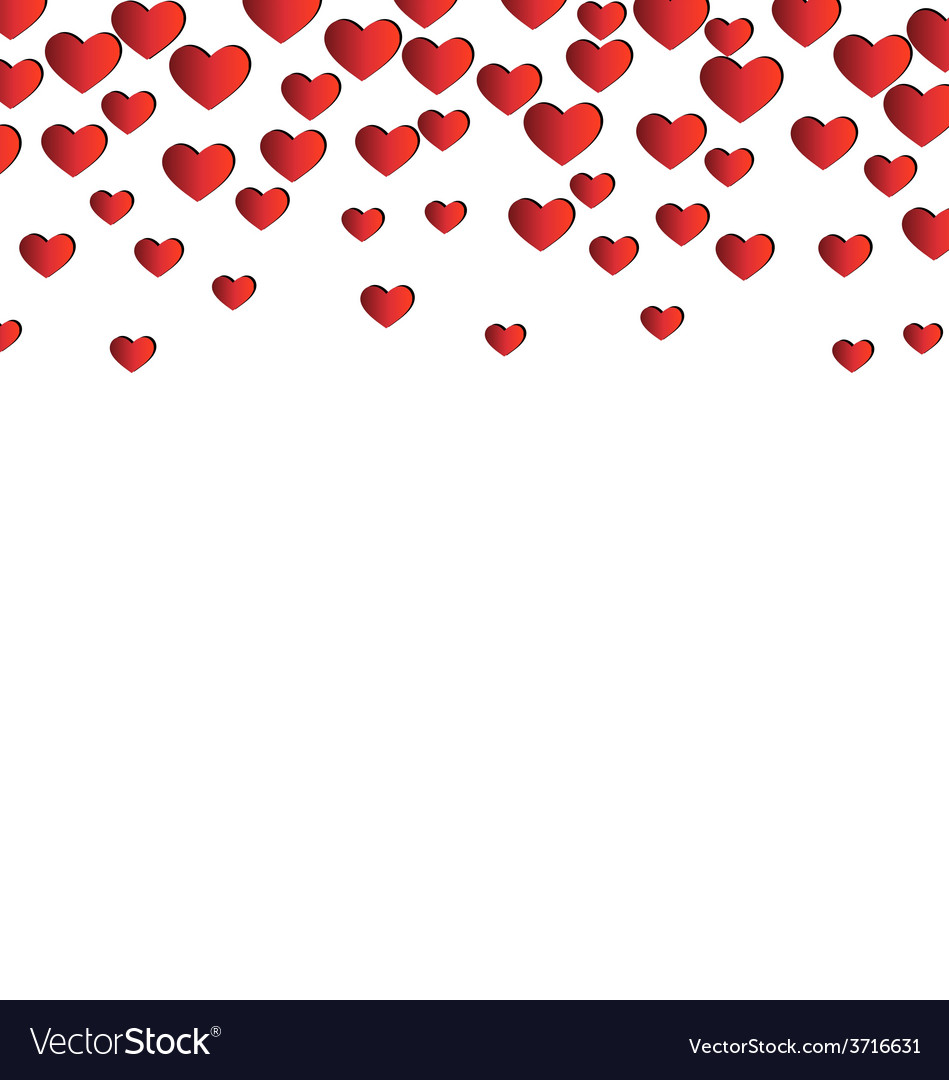 Red hearts isolated on white vector | Price: 1 Credit (USD $1)