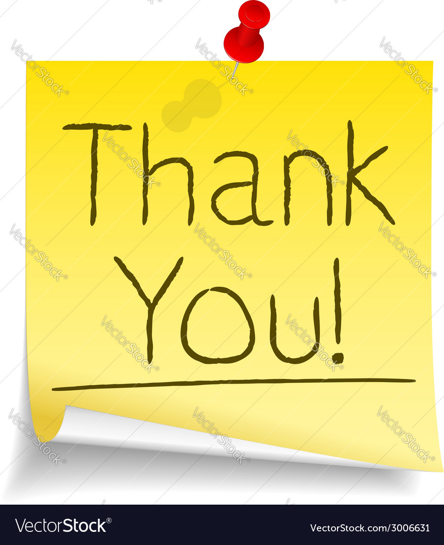 Thank you sticky note vector | Price: 1 Credit (USD $1)