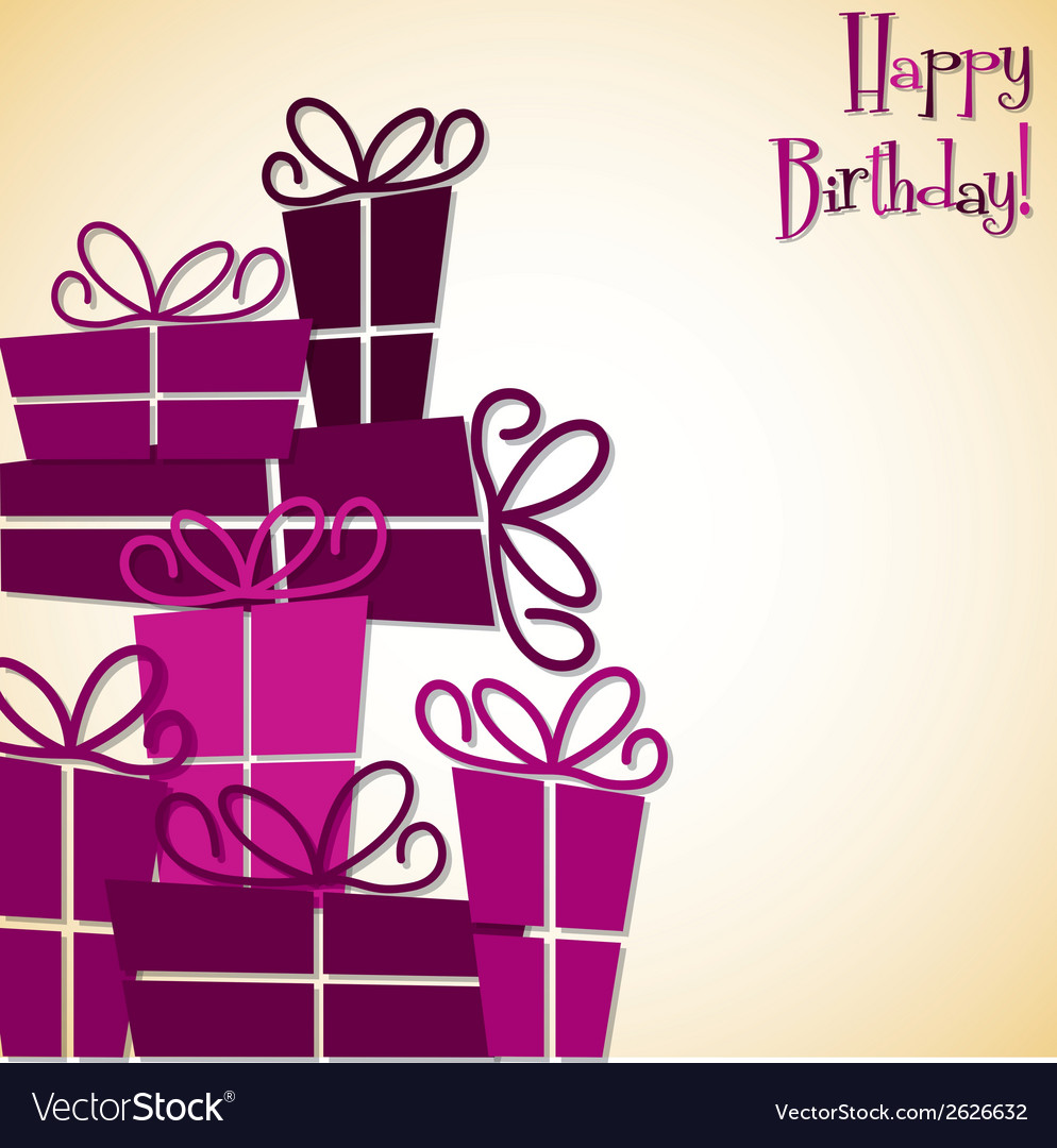 Bright stack of presents card in format vector | Price: 1 Credit (USD $1)