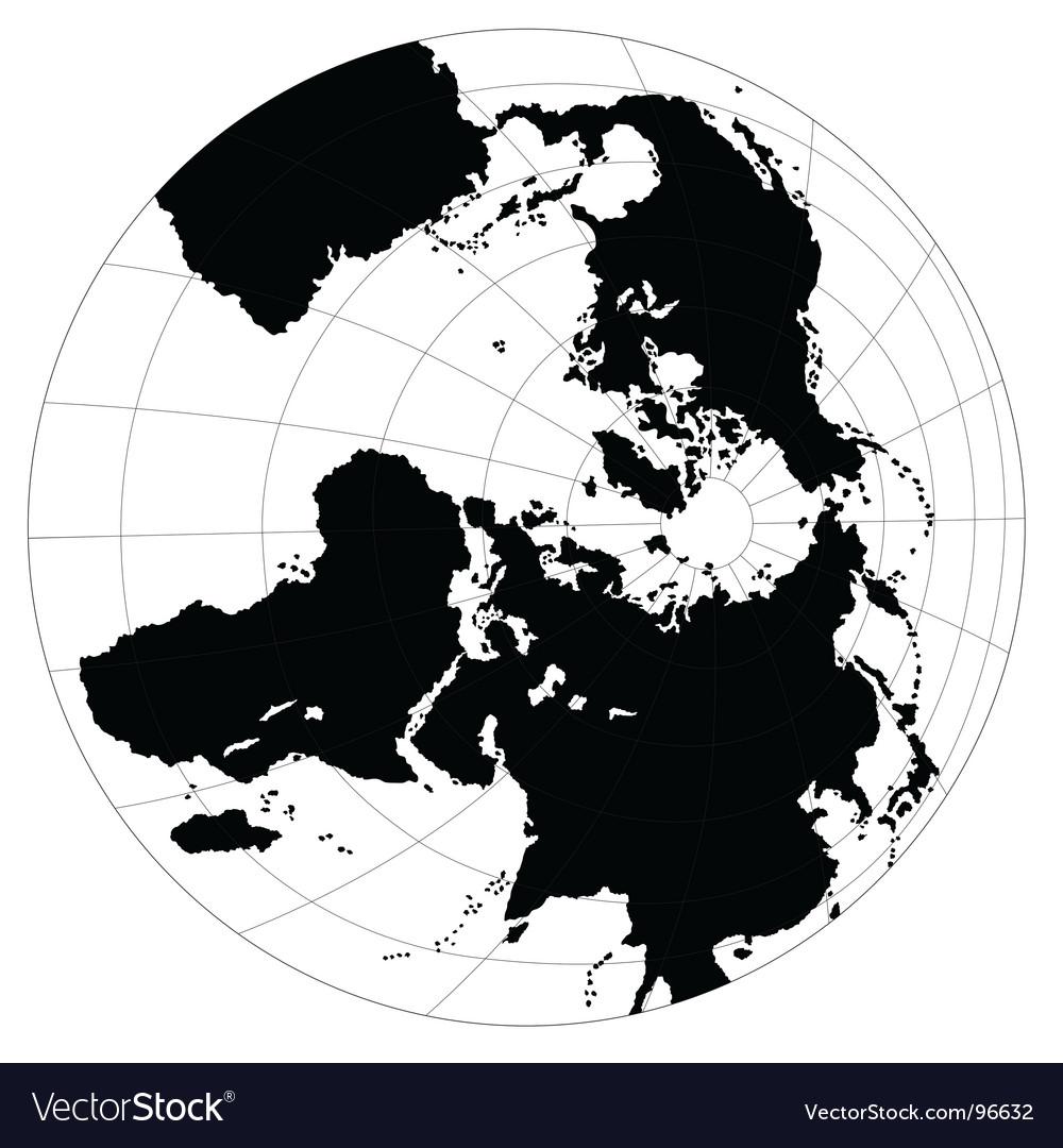 B&w globe vector | Price: 1 Credit (USD $1)
