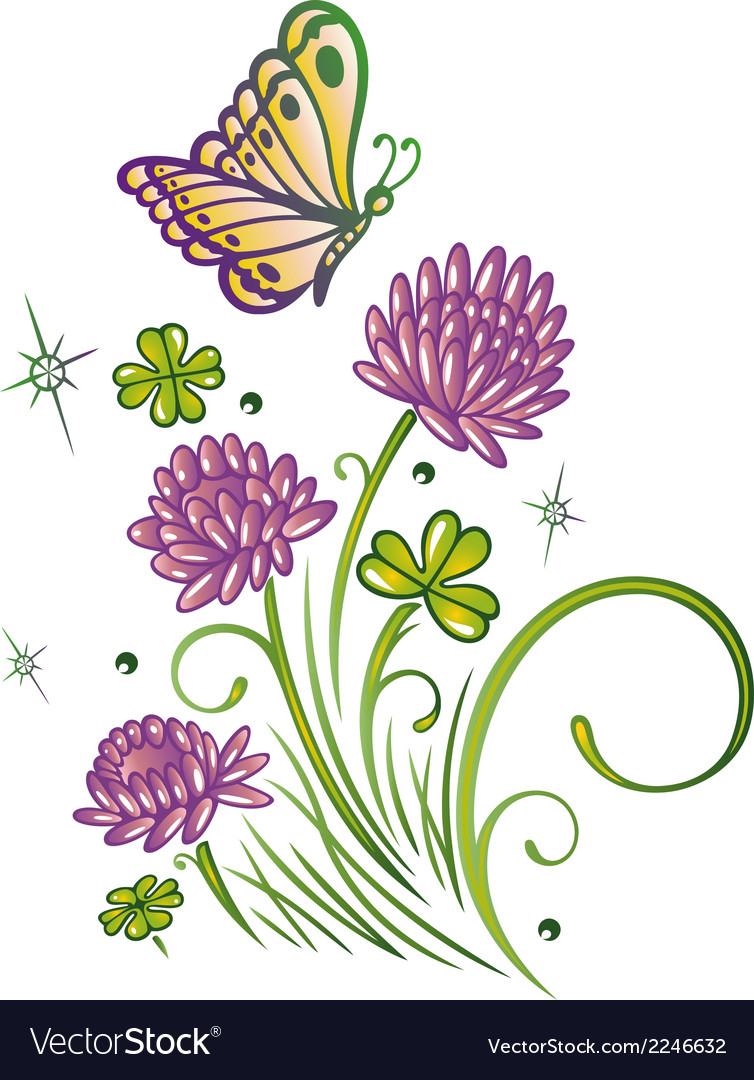Clover summer time vector | Price: 1 Credit (USD $1)