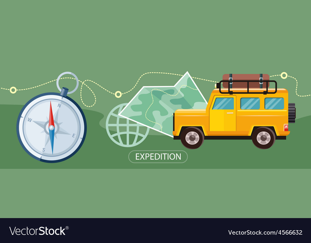 Expedition concept vector | Price: 1 Credit (USD $1)