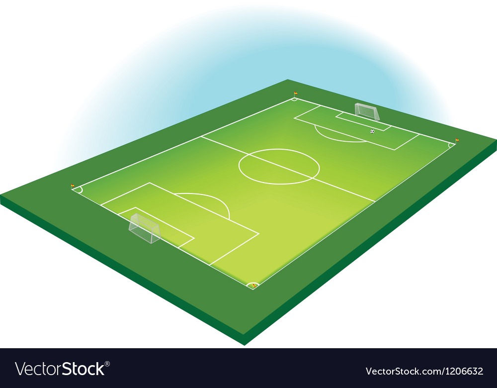 Football pitch vector | Price: 1 Credit (USD $1)