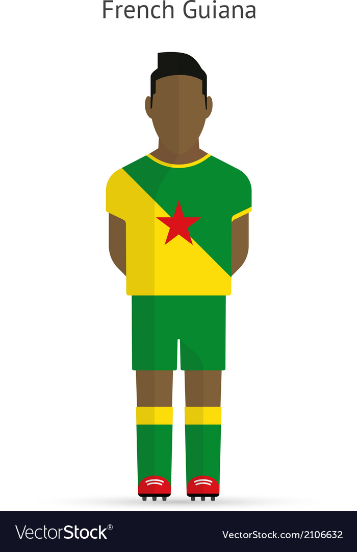 French guiana football player soccer uniform vector | Price: 1 Credit (USD $1)