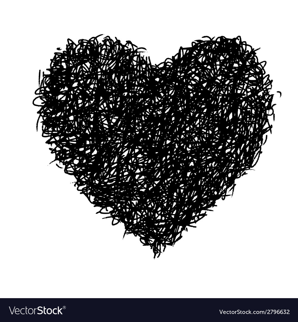 Heart doodle vector | Price: 1 Credit (USD $1)