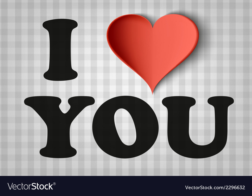 I love you sign with heart vector   Price: 1 Credit (USD $1)