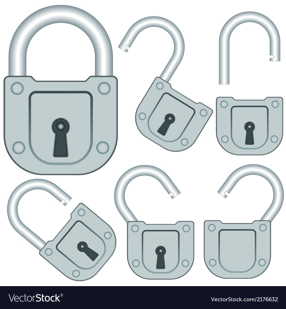 Lock set vector | Price: 1 Credit (USD $1)