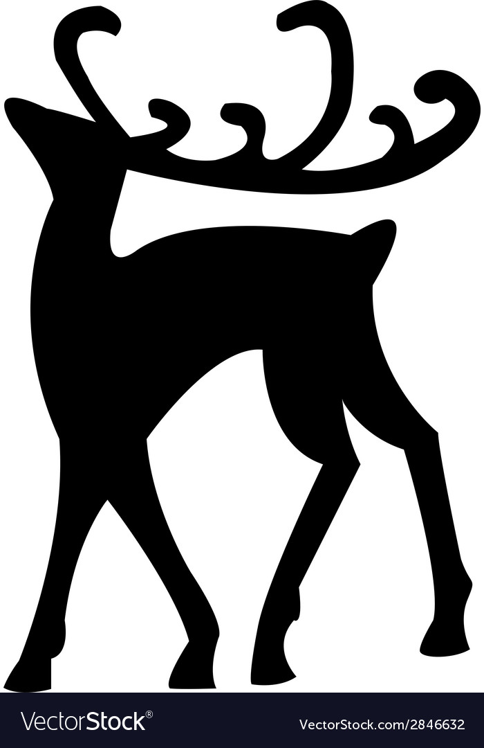 Reindeer isolated on white vector | Price: 1 Credit (USD $1)