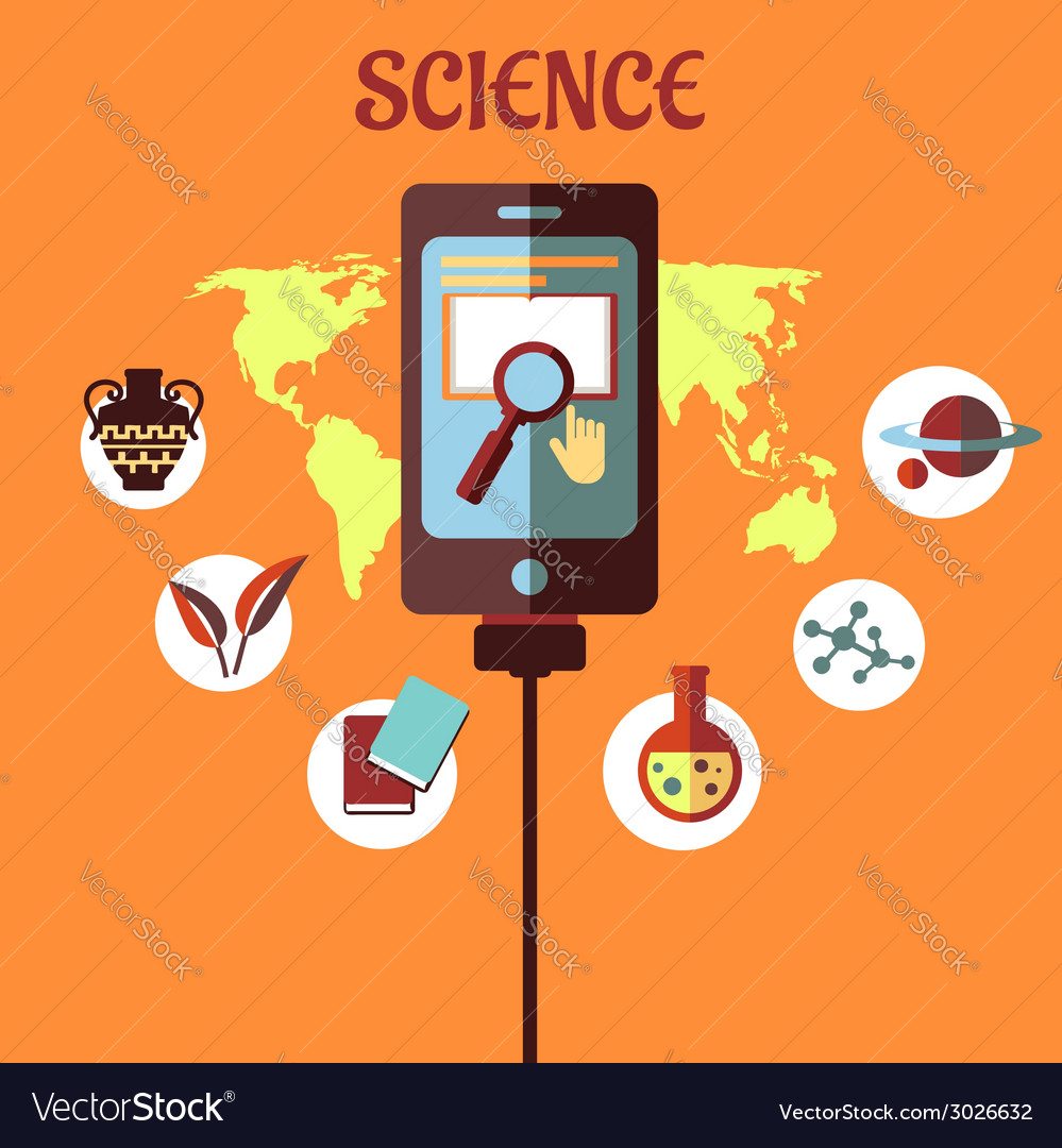 Science infographic flat design vector | Price: 1 Credit (USD $1)