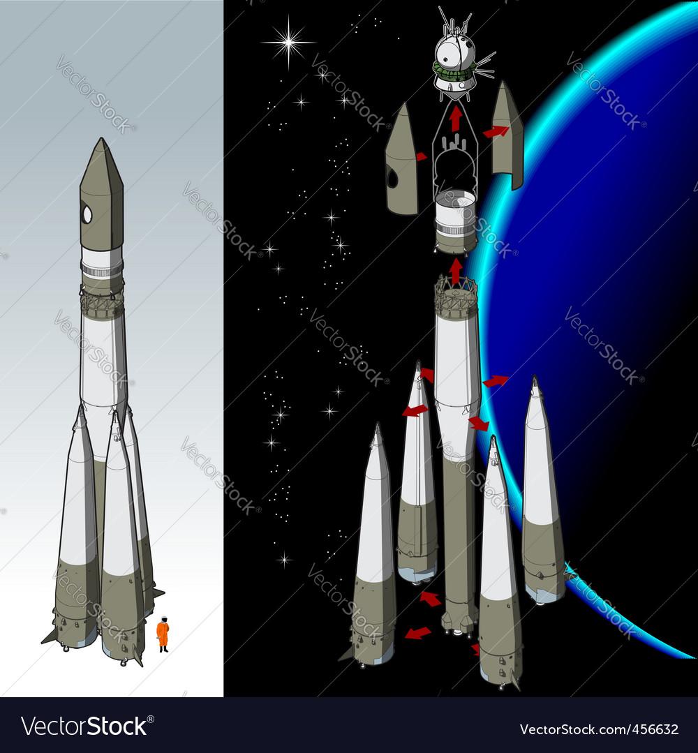Space rocket vector | Price: 5 Credit (USD $5)