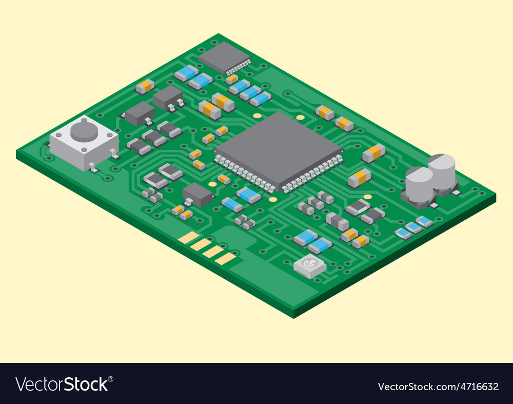 Surface mount technology pcba vector | Price: 1 Credit (USD $1)