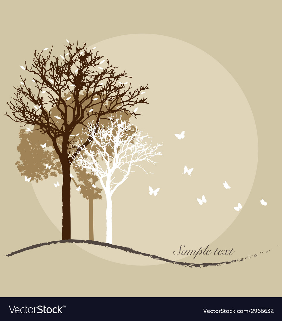 Tree silhouettes vector | Price: 1 Credit (USD $1)
