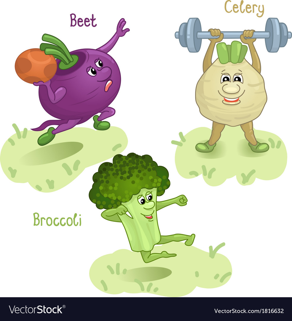 Vegetables engage in sports part 3 vector | Price: 1 Credit (USD $1)