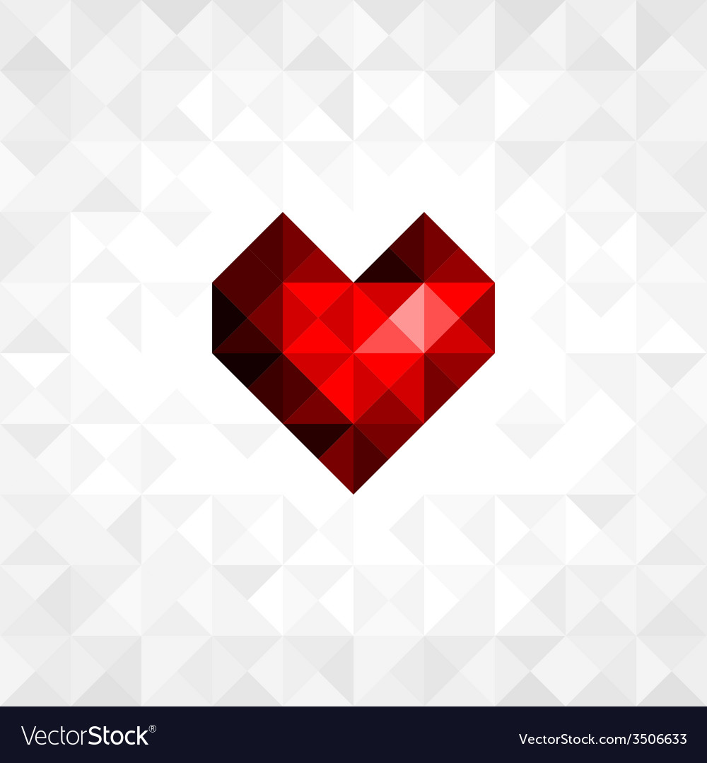 Heart on background vector | Price: 1 Credit (USD $1)