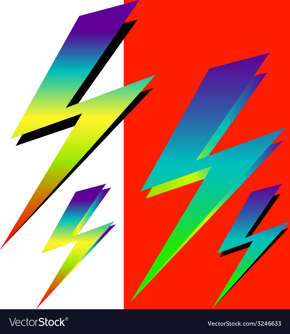 Iridescent sign of lightning vector | Price: 1 Credit (USD $1)