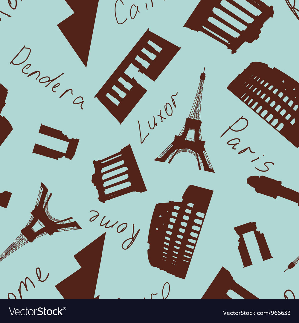 Landmark seamless vector | Price: 1 Credit (USD $1)